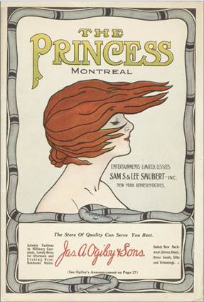 Mr. Veitch presents [...], programme de spectacle, Montréal, The Princess Theatre, 1912. Collections patrimoniales de BAnQ.
