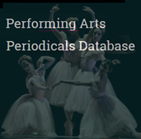 Performing Arts Periodicals Database: logo.